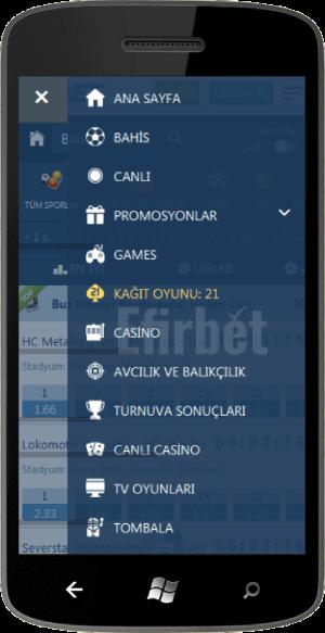 Windows telefonlar için 1xbet uygulama